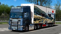 Scania R650 - NTM - Polarica Foods (Malmöstad) Tags: euro truck transport trailer tuning tuned trucking topline trucker trux trucks style scania swedish svensk sweden screenshot simulator spedition styling sim ets2 ekeri exhaust svetsab ets schmitz polarica sverige lights dark night mod mods 2 r560 r500 r650 s650 bussbygg limetech custom camion cab next gen generation ng lastbil lorry lkw game show sko skab lorrie hella alcoa rim wheels tt streamline logistic