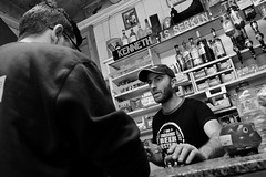 Is Serkin (Douguerreotype) Tags: candid people monochrome bar blackandwhite food malta street mono city urban bw face cafe