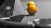 yellow (keriarpi) Tags: yellow bw selective color selectivecolor billiard biliard ball sphere 1 table grey