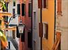 Mediterranean Colors And Atmosphere (2) (Gabi Wi) Tags: mediterranean gebäude farben flair laterne fensterläden italy rivadelgarda architektur shutters lantern colors häuserfront fassaden facades blumentopf fensterbank flowerpot windowsill treppe stairs architecture buildings