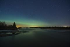 Minor showing of Aurora (Len Langevin) Tags: auroraborealis northernlights longexposure alberta night reddeerriver sundre
