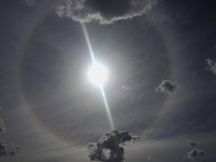 Sun Halo over Dubbo Airport (Darren Schiller) Tags: halo atmospheric weather sun sky clouds dubbo light australia