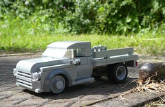 1950 Chevy 6400 Flat Bed (captain_joe) Tags: toy spielzeug 365toyproject lego minifigure minifig moc car auto lastwagen truck lorry