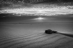 slow... (SvenHoenisch) Tags: europa europe holland landschaft netherlands niederlande ouddorp sonnenuntergang southholland strand südholland zuidholland beach landscape landscapes sunset blackwhite bw