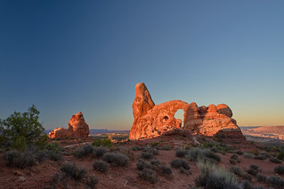 Sunrise at Turret Arch - Arches National Park, Utah