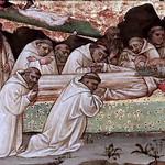 IMG_0029 Lippo d'Andrea. 1377-1451 Florence Les funérailles de saint Benoit.The funeral of saint Benoit.  Tours Musée des Beaux Arts. partie d'une prédelle part of a predella thumbnail