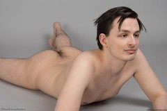 Naked guy lying face down (StudioLads.com) Tags: male model man guy dude youth stud hunk boy lad pose studio photoshoot floor shirtless topless nude naked undressed unclothed slim skinny hot horny sexy cute body chest nipple back hair hairy bum arse ass foot feet barefoot lie lying lay laying down face