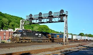 NS 8002 Under the Bridge. Leetsdale, PA