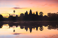 Angkor Wat Sunrise, Siem Reap Cambodia (Patrick Foto ;)) Tags: ancient angkor architecture asia asian buddha buddhism buddhist building cambodia cambodian culture heritage hindu hinduism historic indochina khmer lake landmark monument morning old reap reflection religion religious rock ruin siem silhouette site sky stone sun sunrise sunset temple tomb tourism tower travel tree tropical unesco wat water world worship krongsiemreap siemreapprovince kh
