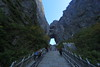 Stairway to Key Hole (Eye of Brice Retailleau) Tags: panorama wide angle composition landscape outdoor paysage perspective scenery scenic view extérieur backpacking hiking earth travel vista colourful colours light low mountain mountains arch arche encens culture asia asie china chine hunan zhangjiajie tianmen chinese blue sky cliff