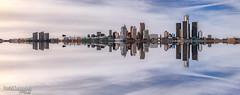 Detroit Skyline (Pat Kavanagh) Tags: pano detroit michigan skyline panorama windsor ontario canada detroitriver
