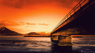 Mountains and Bridge
