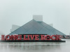 Rock (michaelwalker19) Tags: rockandrollhalloffame downtowncleveland cleveland fog selectivecolor pyramid red rainy