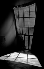 light scape (Gabo Barreto) Tags: bilbao spa paisvasco basquecountry door exit light shadow shadows film fujiacros fujifilm lines analoguephotography filmisnotdead selfdeveloped scannedfromfilm museum blackandwhite monochrome 35mm 135 canon a1 fd