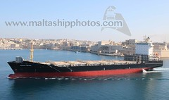 #Container #vessel #WARNOW #BELUGA leaving #Valletta, #GrandHarbour, #Malta - 23.04.2018 - www.maltashipphotos.com (Malta Ship Photos & Action Photos) Tags: sea german marlow shipmanagement palumbo shipyards drydock atg flag