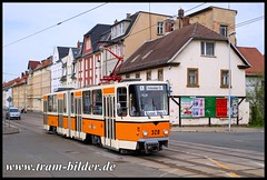 320-2018-04-28-2-Wiesestraße (steffenhege) Tags: gera gvb strasenbahn streetcar tram tramway historischertriebwagen ckd kt4d 320