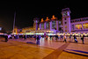 Central Train Station in Beijing, China (` Toshio ') Tags: toshio beijing china chinese trainstation building asia asian people night city fujixt2 xt2 purple architecture neon traveling railway railwaystation