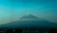 Mt. Fuji seen from 300km/h (sapphire_rouge) Tags: sunset 東京 fuji japan mt ngc