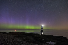 'Saturday Night Lights' - Penmon, Anglesey (Kristofer Williams) Tags: lighthouse aurora northernlights night sky stars phenomenon nightscape penmon anglesey wales astro astrophotography auroraborealis