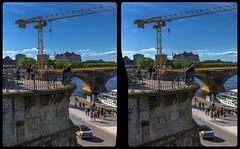 Sanierung der Augustusbrücke 3-D / CrossView / Stereoscopy / HDRaw (Stereotron) Tags: saxony sachsen dresden elbflorenz bridge augustusbrücke restauration crane kran elbe streetphotography urban citylife crosseye crossview xview pair freeview sidebyside sbs kreuzblick 3d 3dphoto 3dstereo 3rddimension spatial stereo stereo3d stereophoto stereophotography stereoscopic stereoscopy stereotron threedimensional stereoview stereophotomaker stereophotograph 3dpicture 3dimage twin canon eos 550d yongnuo radio transmitter remote control synchron kitlens 1855mm tonemapping hdr hdri raw