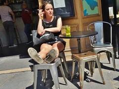 2018-05-08   Paris - Le Mondial - Rue du Faubourg Saint-Denis - Rue du Château d'eau (P.K. - Paris) Tags: paris mai 2018 may people candid street café terrasse terrace smoking
