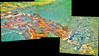 Tread Marks Near Endeavour Crater, variant (sjrankin) Tags: 11may2018 edited nasa mars opportunity panorama colorized rgb bands257 tracks treadmarks sand rocks endeavourcrater