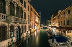 Venice Channels at Night (andreasmally) Tags: venedig venice venezia channels night water kanal italien italy nacht architektur gebäude wasser