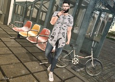 Live your way (Brendo Schneuta) Tags: chuck shirts menonly modulos monochromes hair mulloy glasses volkstone beard black straydog ait bracelet themenjail event kalback pants gift versov shoes sneakers white free nutmeg bike blog blogger secondlifeblog secondlife second game avatar necklace brendo keepcalm day cigarette releases wrong poses pose live fashion style moda