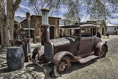 Ford Model A Coupe at an old gas station (Alan Vernon.) Tags: california canoneos1dxmkii copyrightalanvernon2018 abandoned automobile car historic old relic rusty ford model a coupe gas station rusting decay decaying yesteryear