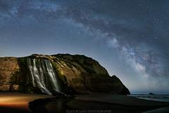 Star Fall (Jaykhuang) Tags: alamerefalls pointreyes pointreyesnationalseashore waterfalls milkyway nightphotography bayarea hiking ocean pacificocean beach jayhuangphotography