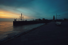 BH (christian mu) Tags: sunset germany bremerhaven weser water urban christianmu 15mm 1545 voigtländer1545 voigtländer sony sonya7riii sonya7rm3 spring architecture river