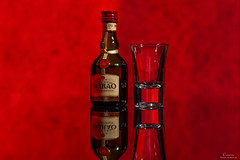 Licor Beirão (Paulo Calafate) Tags: canon5dmarkiv canonef2470mmf28liiusm studio products bottle glass red flash yongnuoyn685 yn622ctx