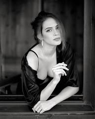 Portrait  - Paula Losada by lsmart -  #Pentax67 #kodakfilm #tmax400