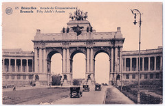 Bruxelles - Triumphal Arch - Arcade du Cinquantenaire (pepandtim) Tags: postcard old early nostalgia nostalgic bruxelles triumphal arch carte postale dohmen 02091930 1930 miss west mayville high school waverley road southsea hants hampshire angleterre heatwave watson oxford results good news edna quadriga