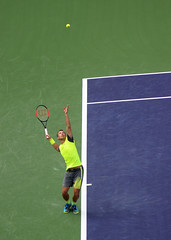 Big Serve (rochpaul5) Tags: tennis court indian wells tournament serve ball racquet wilson geometry athletics