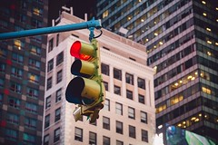 Slow down, it's Times Square.. (kareszzz) Tags: travel travelphotography details urbanphotography timessquare ny nyc newyork newyorkcity manhattan lamp lights citylights canon buildings evening night us usa
