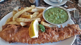 Cod, Chips & Mushy Peas.