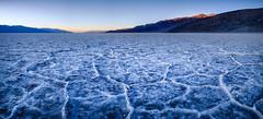 Badwater Panorama (Graeme Tozer) Tags: california usa sunset salt badwater panorama saltpan deathvalley desert