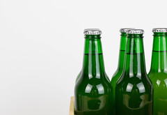 Close up shot of green glass bottles (wuestenigel) Tags: beer drink weltmeisterschaft alcohol whitebackground box bier saufen fussball wm closeup wm2018 saufenwieingo bottles glass glas full voll getränk lager alkohol bottle flasche cold kalt ale aber noperson keineperson liquid flüssigkeit party foam schaum pub kneipe frosty eisig refreshment erfrischung cool bar wet nass brewery brauerei