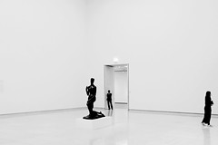 / three / (christikren) Tags: austria blackwhite christikren design exhibition kunstmuseum leopoldmuseum vienna candid people sw reflection silhouette three individual