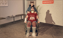 *I can't promise that I'll be there for the rest of your life....but I can promise that I'll be there for the rest of mine* ❤ (Ⓐⓝⓖⓔⓛ (Angeleyes Roxley)) Tags: june jonathan piggu wheelchair accident hospital cast love cute people sl avatar male female