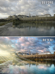 Before After - France - Ben Heine Photography (Ben Heine) Tags: beforeafter benheinephotography photography nature landscape before after photoediting editing retouching photoretouching objectremoval colorcorrection photocorrection composition restoration photorestoration masking clippingpath clipping mattepainting retouche retouchephoto photographie foto fotografie