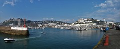 Torquay Harbour & Marina - Panoramic View. (Drive-By Photography) Tags: torquay harbour marina boats yachts breakwater torbay