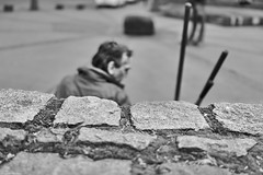 Mannheim Street Mann 552 b&w (rainerneumann831) Tags: bw blackwhite street streetscene ©rainerneumann urban monochrome candid city streetphotography blackandwhite mannheim mann jungbusch