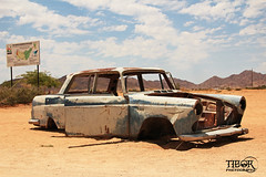 Solitaire (morbidtibor) Tags: africa namibia solitaire car carwreck wreck gasstation desert sand rust
