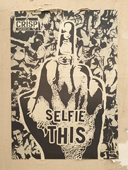 Selfie This! (david ross smith) Tags: paris france graffiti art ad poster sign signage 11tharr 11tharrondissement text