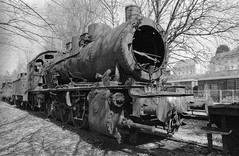 Dampflokmuseum Hermeskeil (Ronald_H) Tags: dampflokmuseum hermeskeil steam locomotive railway museum diafine nikon fm10 black white bw film 2018 foma fomapan 400