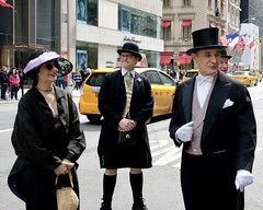 Puttin' On The Ritz (Easter Parade #17) (Anne Marie Clarke) Tags: easterparade costumes maninkilt tophat tails formal whitegloves bowler easter kilt dressup mondayfreetheme 7dwf