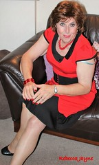 Oooops my strap has slipped! (rebeccajaynegrey) Tags: crossdresser transvestite transgender crossdress cd tgirl tg crossdressing
