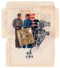 Leo & Pipo, by Allan Bealy (Leo & Pipo) Tags: leoetpipo paris street art collage artwork portrait imaginary cut paste paper digital retro vintage mixed media graphic design old france music illustration dua dada surreal painting leo pipo leopipo allan bealy